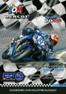 press-book sportif pilote moto personnalise