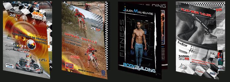 press-book sportif pour pilote et team moto